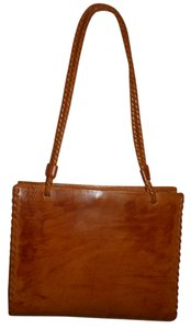 Cecconi Leather Tote in British tan