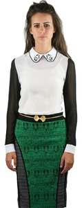 Sister Jane Colorblock Skirt Green