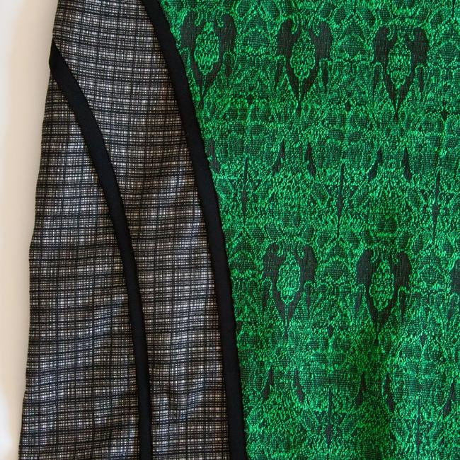 Sister Jane Colorblock Colorblocking Colorblock Herringbone Plaid Plaid Skirt Green