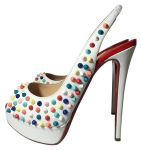 Christian Louboutin white / multicolor Pumps