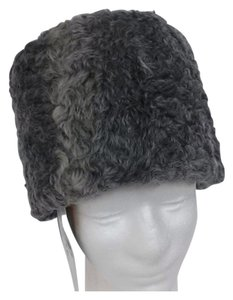 HAND MADE NATURAL GRAY PERSIAN SHEEP MAN'S RUSSIAN PAPAKHA HAT SIZE XL 58 NEW WITH TAG