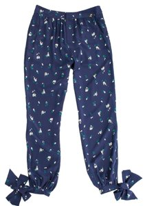Harlyn Printed Flower Trouser Pants Navy Floral