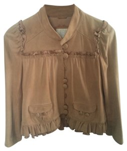 Madison Marcus Beige/ Light Tan Leather Jacket