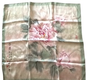 Other silk peony square scarf