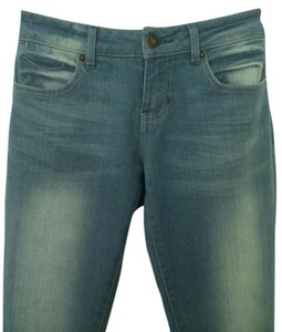 Tinseltown Skinny Pants Light Vintage Blue distressed