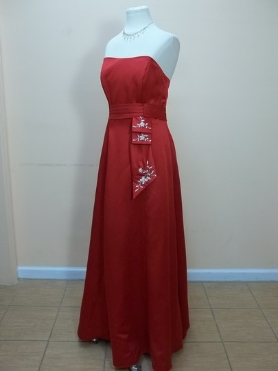 Alfred Angelo Cherry Satin 6359 Formal Bridesmaid/Mob Dress Size 12 (L)