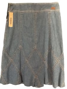 DKNY Demin Criss Cross Skirt Denim