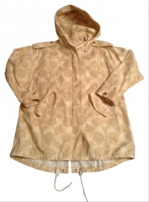 Preload https://item3.tradesy.com/images/coach-tan-and-white-raincoat-size-4-s-119537-0-0.jpg?width=400&height=650