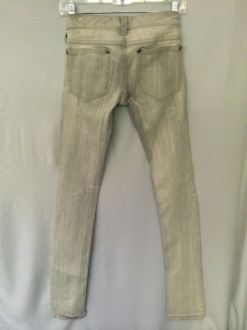 Free People Skinny Pants Light distressed grey-cream