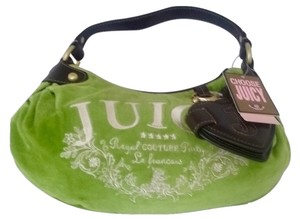 Juicy Couture Gold Hardware Leather Mirror Logo Shoulder Bag