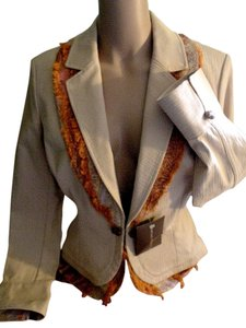St. John Sport Nwt Beige and Orange Blazer