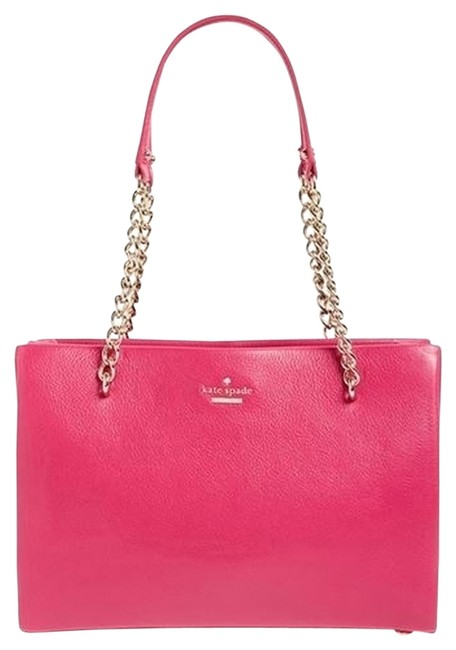 Item - Hot Pink Leather Tote