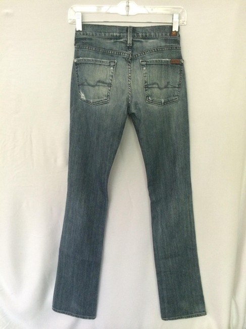 7 For All Mankind Straight Pants Distressed