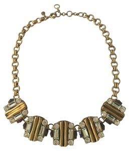 J.Crew J Crew Crystal and Gold Statement Necklace