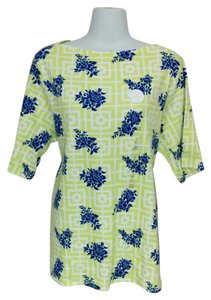 Charter Club Shirt Plus Size Blue Top Green
