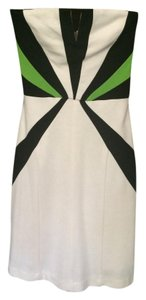 Karlie short dress Off White w/Black & Lime on Tradesy