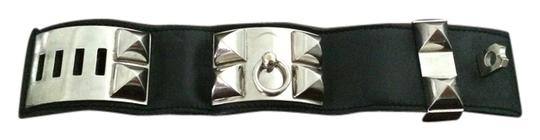 Preload https://item3.tradesy.com/images/hermes-hermes-collier-de-chien-cuff-black-and-silver-1195502-0-0.jpg?width=440&height=440