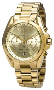 Michael Kors Gold tone Stainless Steel Unisex Boyfriend Designer Watch