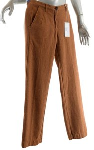 Massimo Alba Flannel Trousers Relaxed Pants Burnt Orange