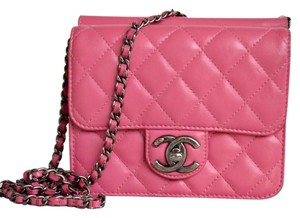 Chanel Quilted Leather Mini Cross Body Bag