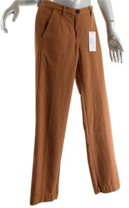 Massimo Alba Flannetl Trousers Relaxed Pants Burnt Orange