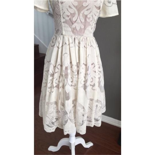 Anthropologie Wedding Gown: Anthropologie Cream Lace Casual Wedding Dress Size 0 (XS