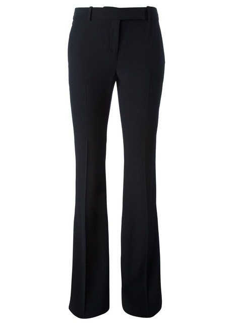 Item - Black Tailored Crepe Bootcut Pant Suit Size 4 (S)