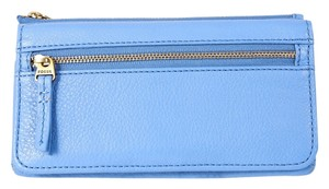 Fossil * Fossil 'Erin' Crystal Blue Leather Flap Clutch Wallet