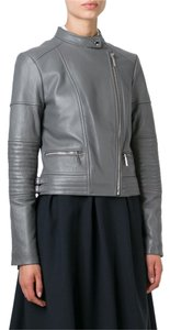 Michael Kors Leather Biker Motorcycle Lambskin Motorcycle Jacket