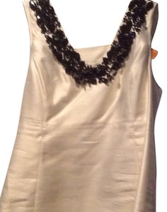 Tory Burch Top Ivory with black beads