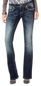 Miss Me Sequin Glam Boot Cut Jeans-Dark Rinse
