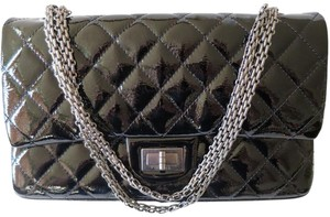Chanel Double Flap Jumbo Patent Leather Shoulder Bag