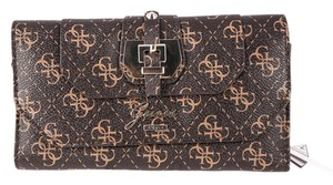 Guess Guess Brown Logo Confidential Slim Wallet