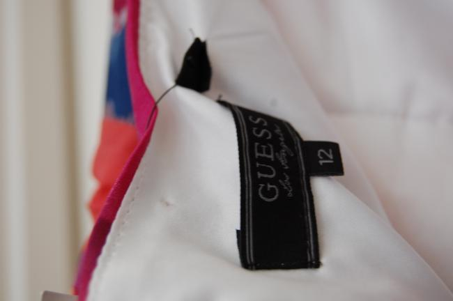 Guess short dress Watercolor, White, Pink, Blue, Green, Purple Pleated Halter on Tradesy