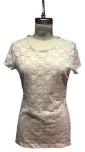 H&M Eco T Shirt White Lace