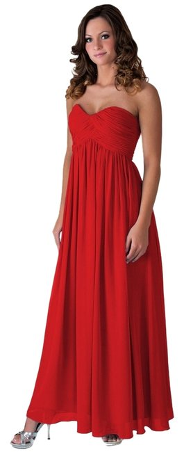 Red Maxi Dress by Other Chiffon