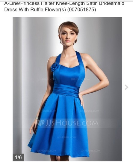 Fuschia and Turquoise Only Satin Feminine Bridesmaid/Mob Dress Size 10 (M)