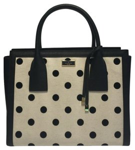 Kate Spade Satchel in Black/Natural Polka Dot
