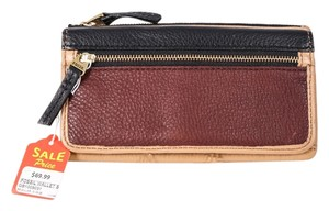 Fossil Fossil Erin Flap Clutch Brown/Black/Maroon