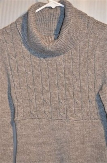 So Wear It Declare It short dress Grey Cowl Neck Size Small Very Soft In Color Cable Knit The Front Top Half Of Nwot 14