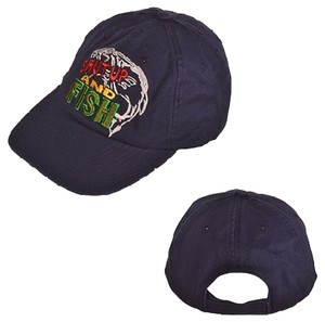 """Other """"Shut Up & Fish"""" Navy Blue Unstructured Baseball Cap"""