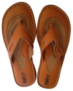 Børn Leather Clementine Orange Sandals