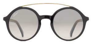 Gucci Curved bar round frame sunglasses