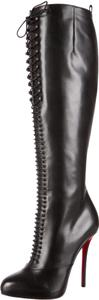Christian Louboutin Leather Stiletto Tall Black Boots