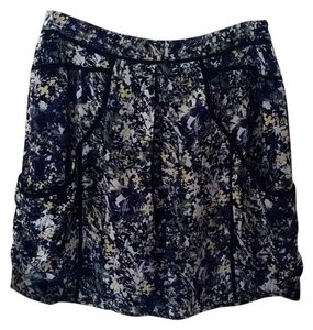 Anthropologie Anthrofave Floral Mini Skirt Multi