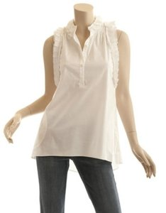 BCBG Max Azria Ruffle Razor Back Dress Shirt Tunic