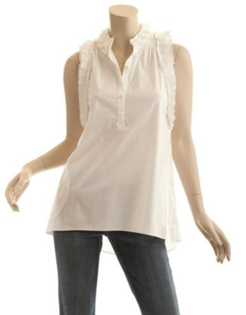 BCBGMAXAZRIA Ruffle Razor Back Dress Shirt Tunic