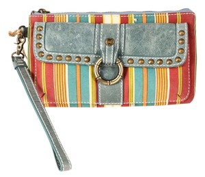 Tommy Bahama Zip Compartment Interior Zip Pocket Key Ring Wristlet in Multicolor