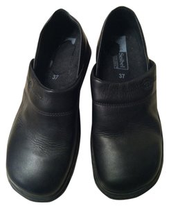 Josef Seibel Leather Black Mules