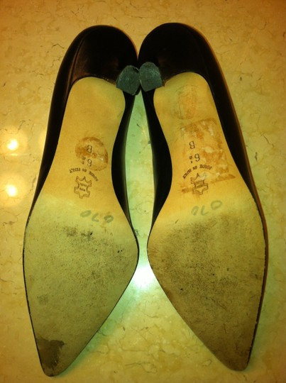 Isaac Made in Italy Italian Leather Genuine Leather Classic Black Pumps